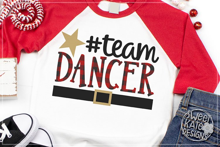 Team Dancer Buffalo Plaid SVG DXF EPS PNG JPG example image 1