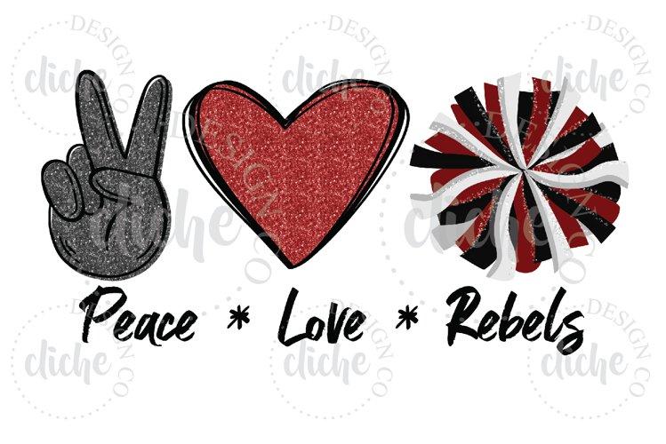 Rebels Mascot Sublimation Design