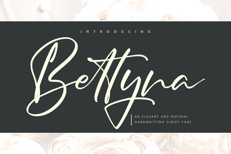 Bettyna   Handwriting Script Font example image 1