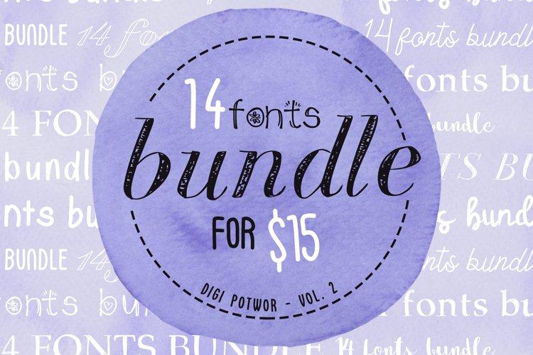 14 Fonts bundle vol.2 example image 1