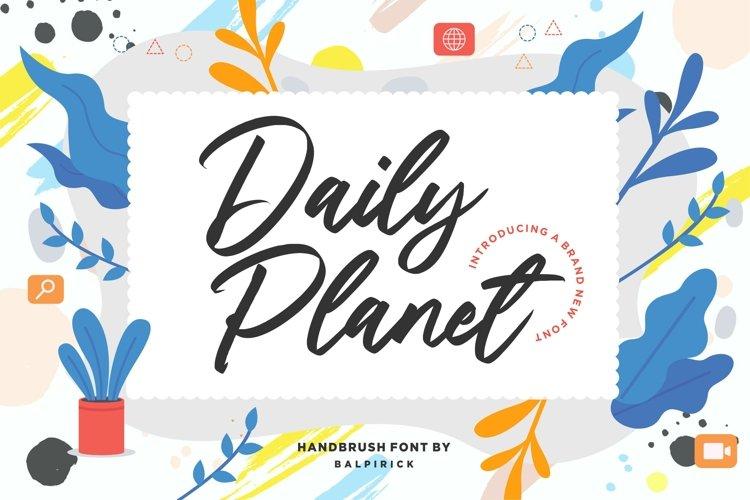 Daily Planet Handbrush Font example image 1