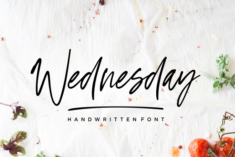 Wednesday Vibes - Handwritten Font example image 1