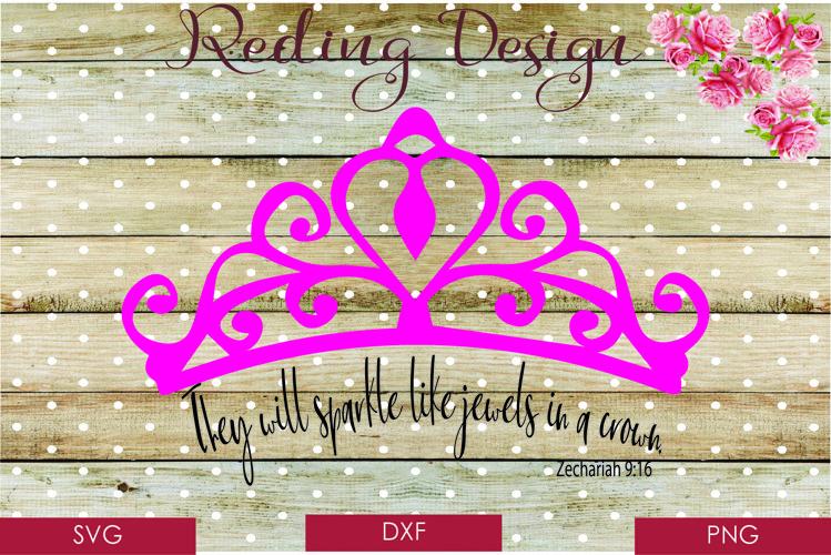 Jewels in a Crown Zechariah SVG DXF PNG Digital Cut Files