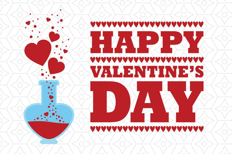 Happy Valentine's Day Love Potion Decal example image 1