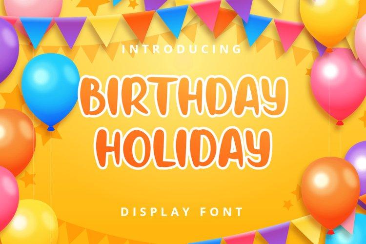 Birthday Holiday example image 1