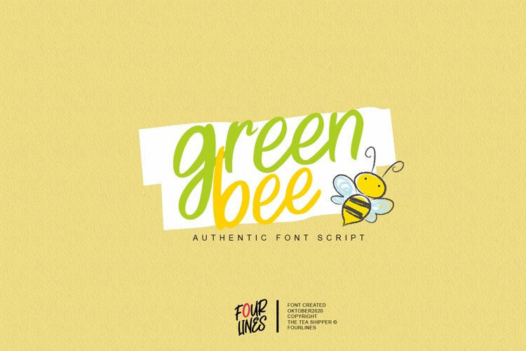 Green Bee example image 1
