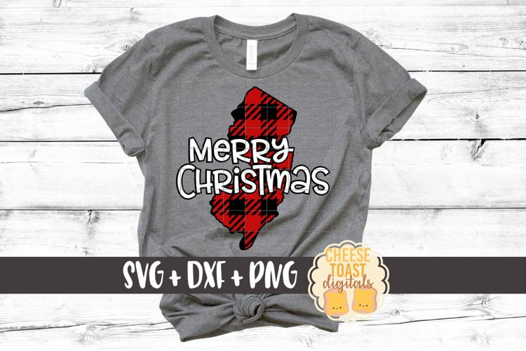New Jersey - Buffalo Plaid State - SVG PNG DXF Cut Files example image 1