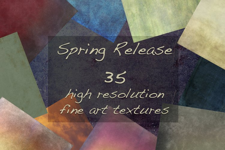 35 Colourful Fine Art Textures - Spring Release