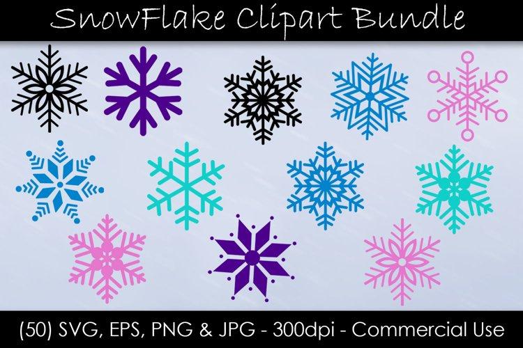 Snowflake SVG Bundle - Snow Clip Art - EPS, SVG, PNG, JPG example image 1
