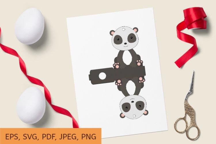 Cute Panda Chocolate Egg Holder Design, Print and Cut example image 1