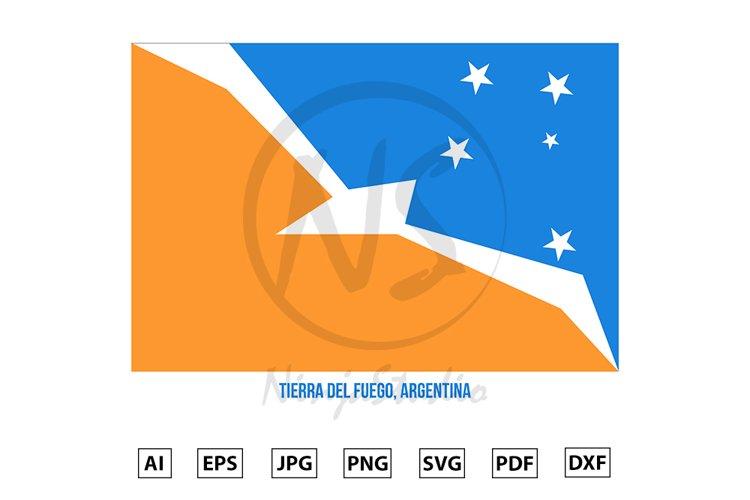 Tierra Del Fuego Flag Vector. Flag of Argentina Provinces example image 1