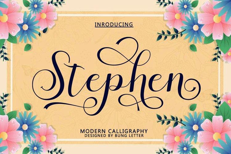 Stephen - Modern Calligraphy example image 1