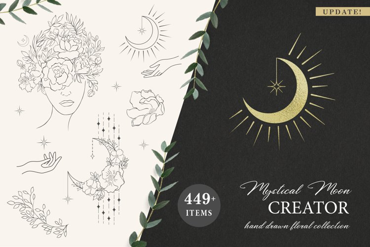 UPDATE! Mystical Moon. Trendy Design Creator.
