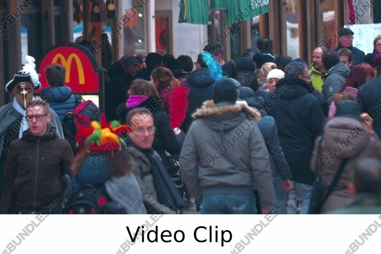 Video: People Walking by Fast Food Restaurant example image 1