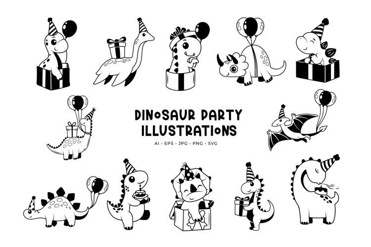Dinosaur Party Illustrations