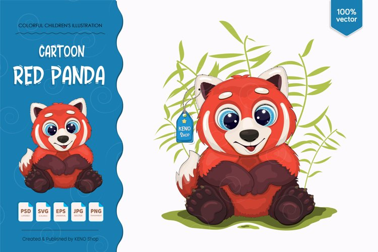 Big cartoon red panda. example image 1
