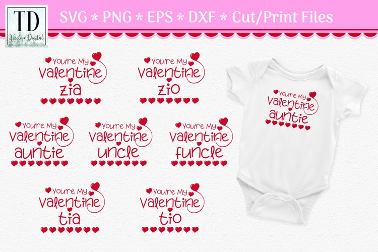 Youre My Valentine for Aunt or Uncle, Valentine SVG Bundle