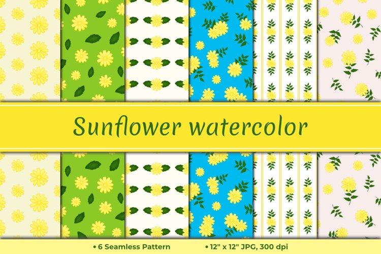 Sunflower Watercolor Pattern