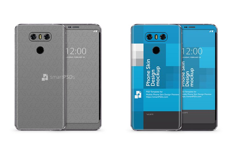 LG G6 Mobile Skin Design Template---------- example image 1