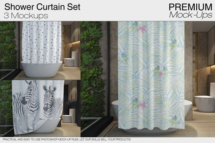 Shower Curtain Mockups example image 1