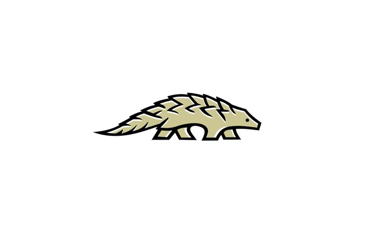 Pangolin Scaly Anteater Walking Side Mascot example image 1