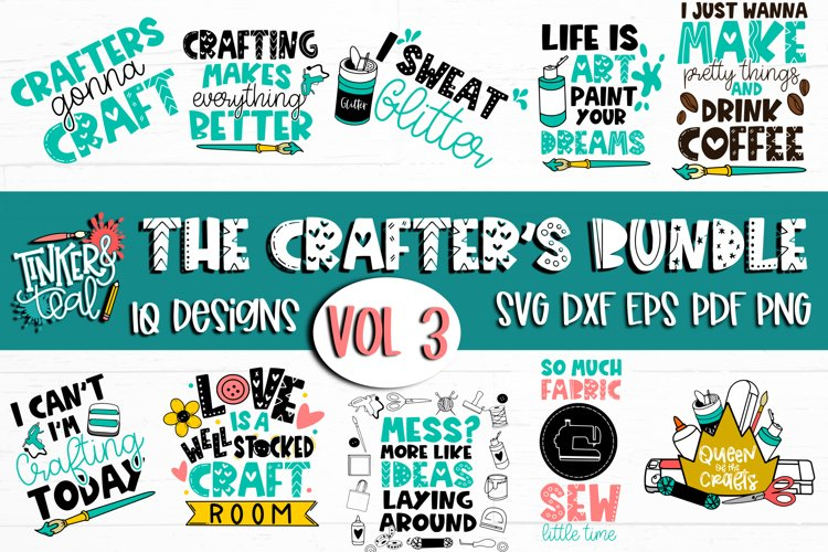 Crafters SVG Bundle Vol 3 / Craft svg / Makers SVG / SVG