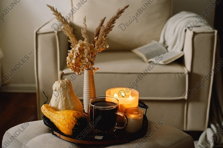 Still life details in home interior of living room example image 1