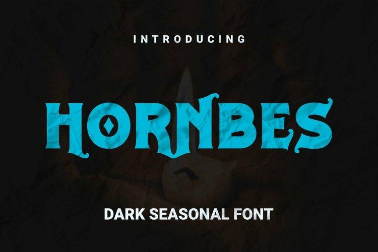 Web Font Hornbes Font example image 1