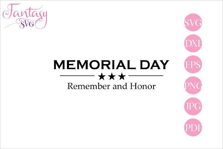 Memorial Day - svg cut file
