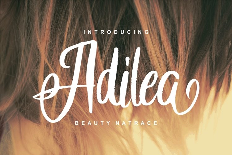 Adilea   Beauty Natrace Script Font example image 1