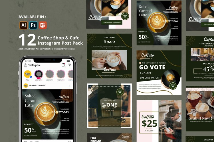 Coffee Shop Instagram Template example image 1