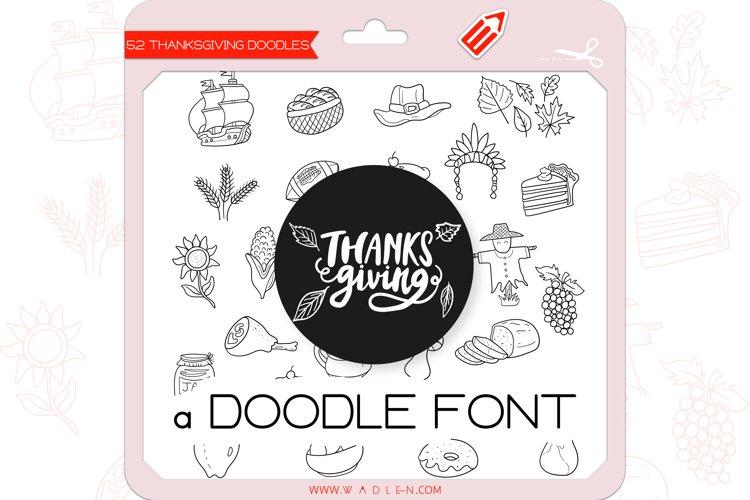Thanksgiving Doodles - Dingbats Font example image 1