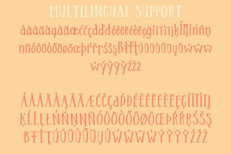 Streusel Kuchen Handwritten Serif Font example 6