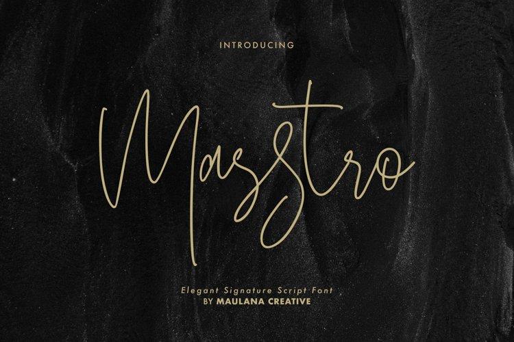 Masstro Signature Typeface example image 1