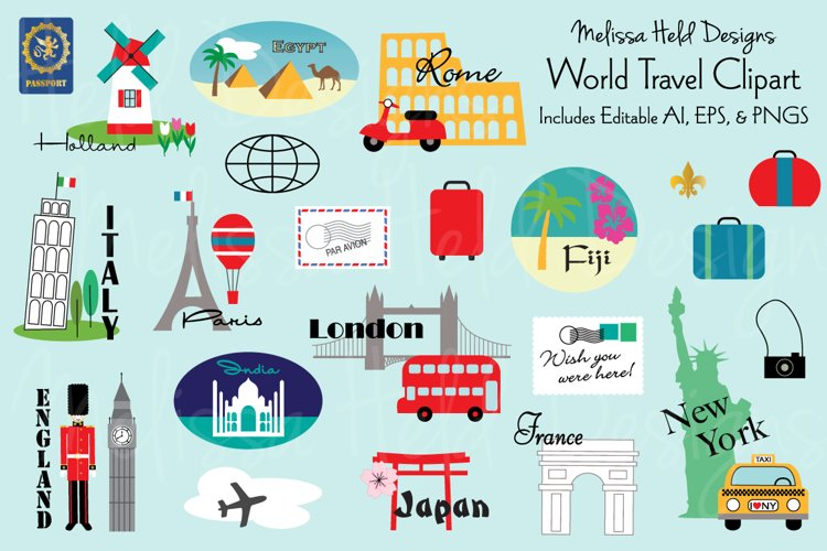 World Travel Clipart example image 1