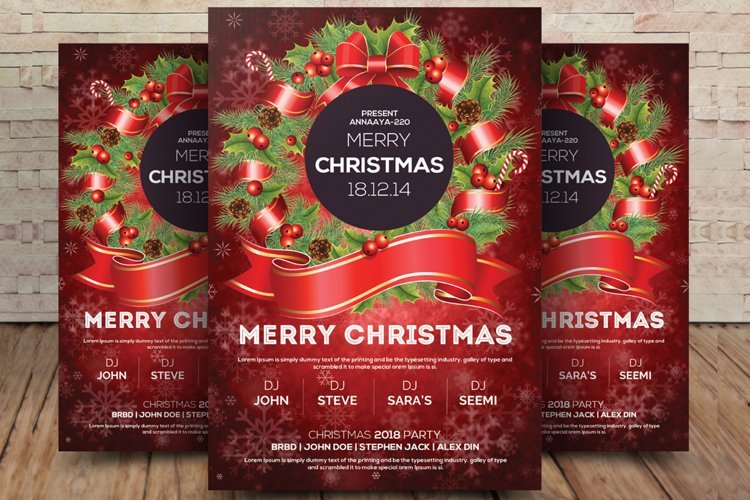 Christmas Winter Party Flyer Template example image 1