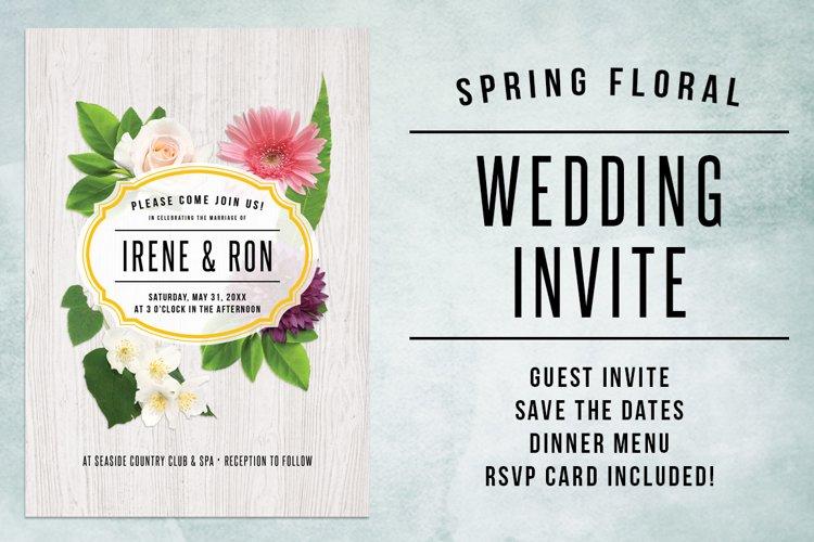 Spring Floral Wedding Invite Bundle example image 1