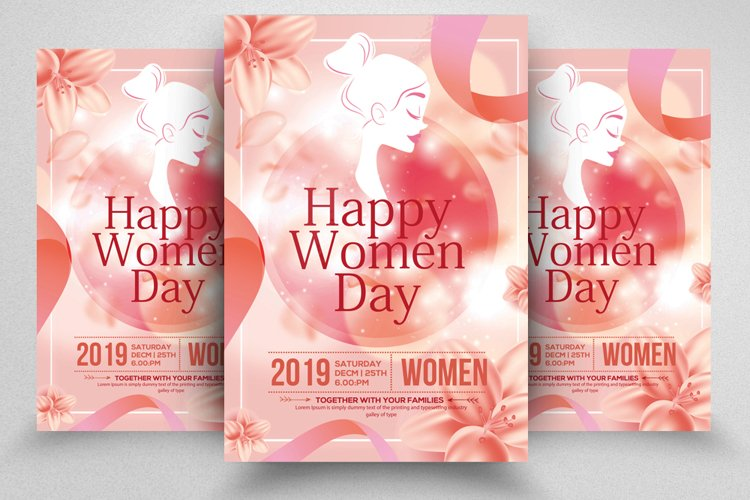 Happy Women's Day Flyer Template example image 1