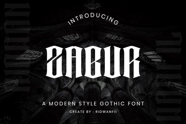Zabur Font - Modern Gothic Style example image 1