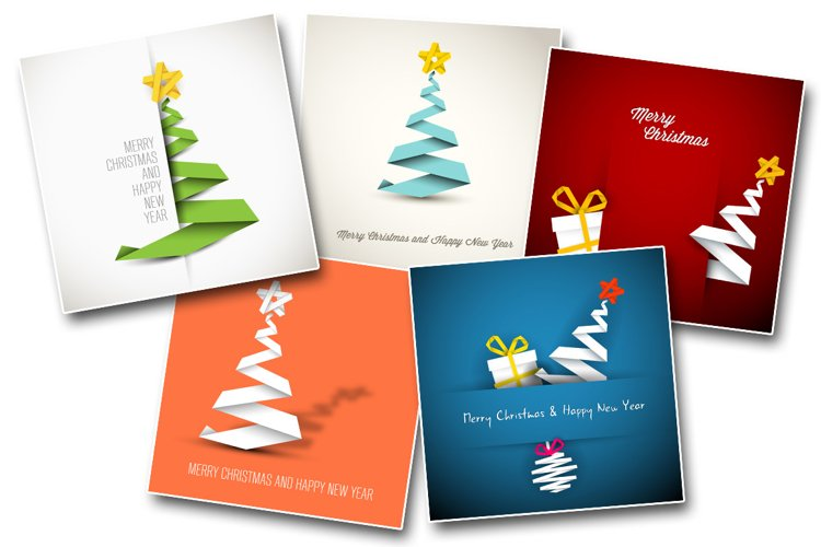 Christmas bundle: 5 minimalist christmas card templates