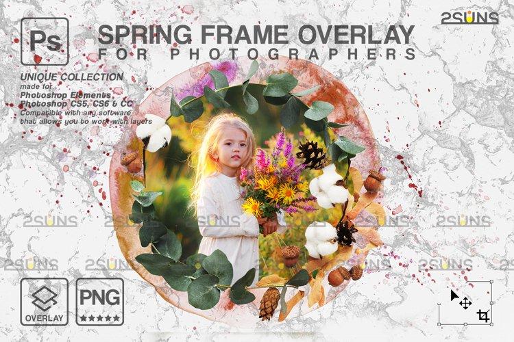 Spring flower digital frames overlay Easter example image 1