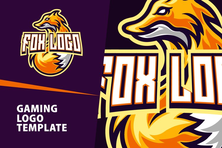 Fox Gaming Logo Template example image 1