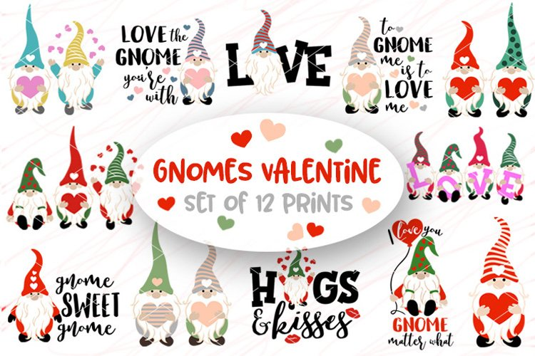 Bundle Valentines day Gnomes svg Love sign Gnomies Heart png example image 1