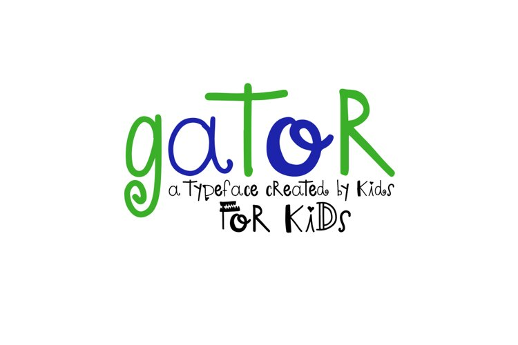 Gator -  A font by kids, for kids example image 1