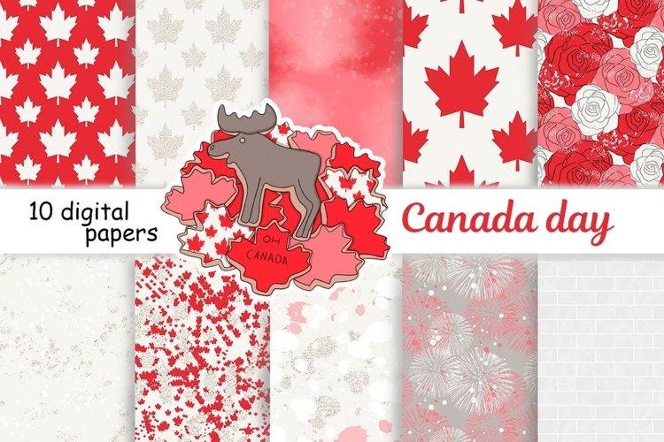 Canada Day PATTERN Fashion Illustration Patriotic USA JPEG example image 1