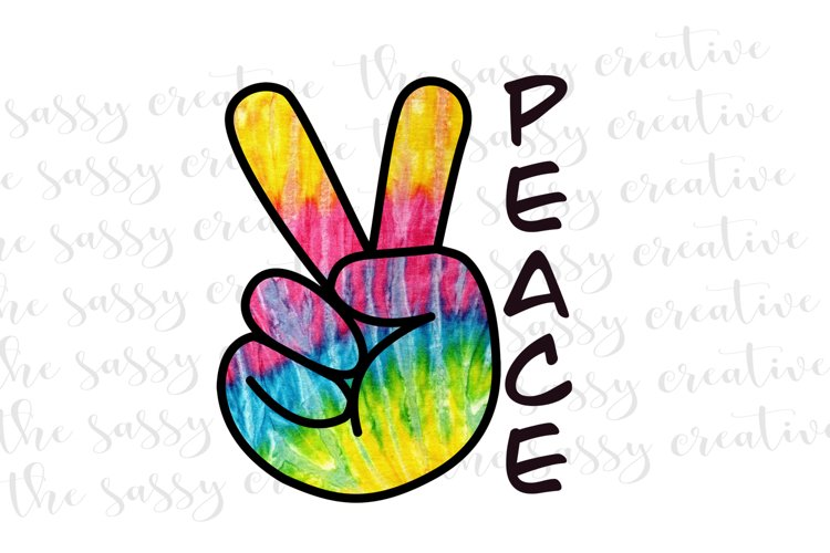 Sublimation Designs   Peace Sign PNG File example image 1