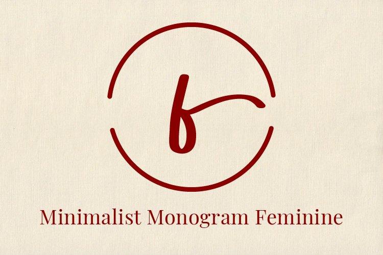 Monogram Feminine example image 1