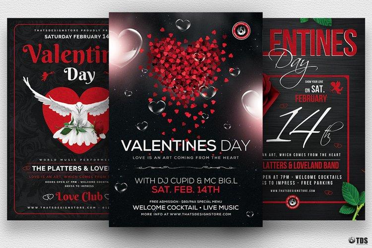 Valentines Day Flyer Bundle V2 example image 1
