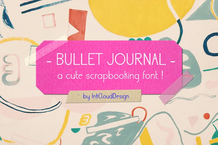 Cute Sans Serif Bullet Journal Font | Modern Scrapbooking