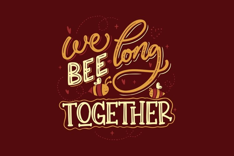Wee Bee Long Together Lettering example image 1